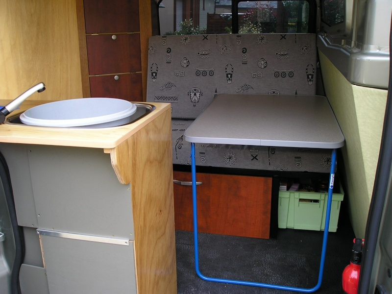 Voir le sujet trafic ii for Meuble cuisine camping car