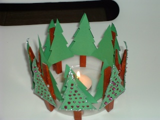 Photophore sapins - Photophore noel maternelle ...