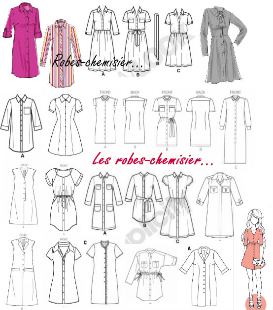 patron couture robe chemisier