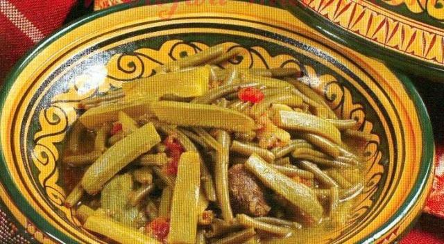 المقادير: قطع لحم ضان 500 غ فاصوليا (لوبيا) حبتان