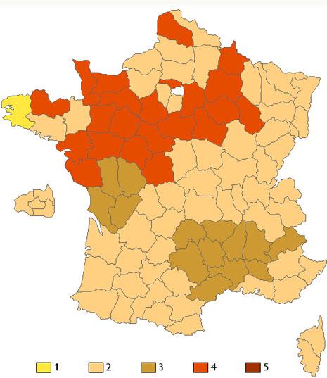 nombre de bises par region