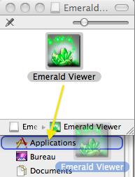 Glissez Emerald dans le dossier de votre choix.