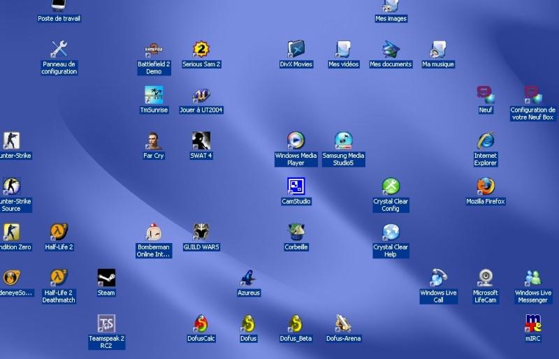 Police des icones sur le bureau probleme resolu - Performances du bureau pour windows aero ...