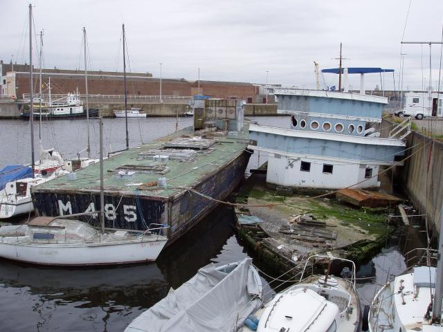 le PICO coulé dans le port d'Oostende, victime de spéculation