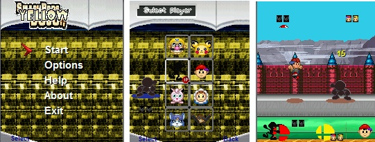 smash bros para moviles 1 y 2, Compatible con: Moviles java con resolución 128x160,176x220,