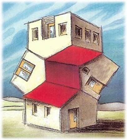 Рисунок странного дома