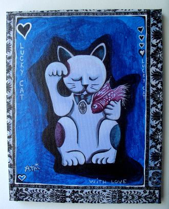 Lucky Cat With Love dans Mise en Vente 64601310
