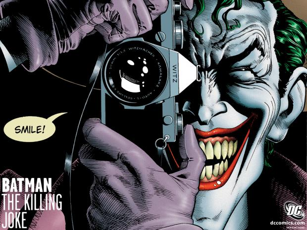 La couverture de The Killing Jokes d'Alan Moore et Brian Bolland sortie en 1988