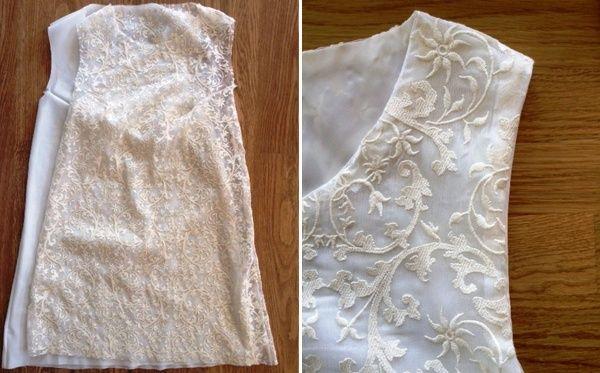 Comment faire une robe en dentelle doubl e chez - Coudre une fermeture eclair sur une robe ...