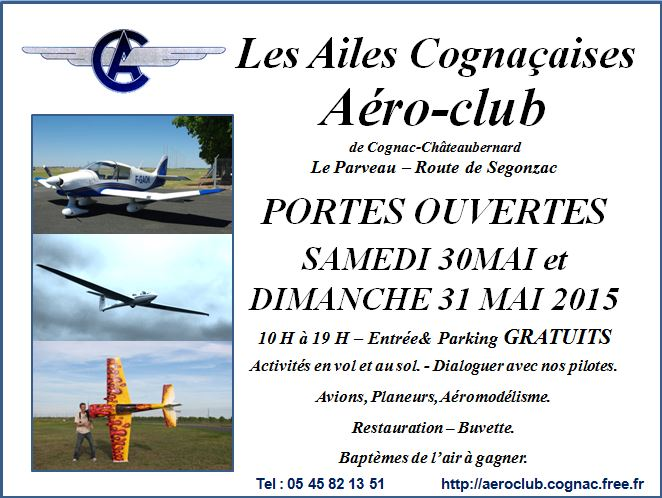 Les Ailes Cognaçaises, JPO Aéroclub de Cognac, JPO 2015, French Airshow 2015
