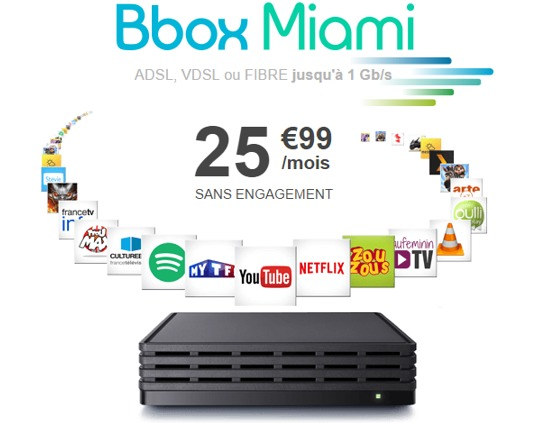 la bbox miami de bouygues telecom d sormais disponible pour tous. Black Bedroom Furniture Sets. Home Design Ideas