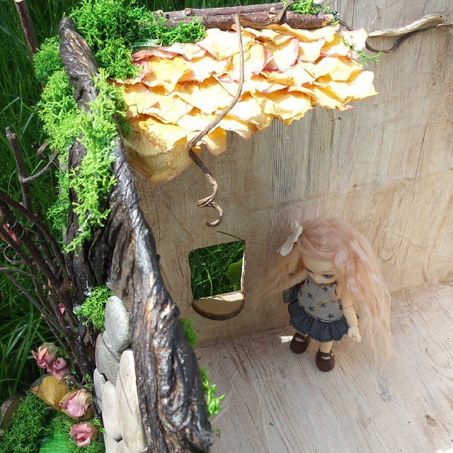 maison de f e puki souche d 39 arbre pullip. Black Bedroom Furniture Sets. Home Design Ideas