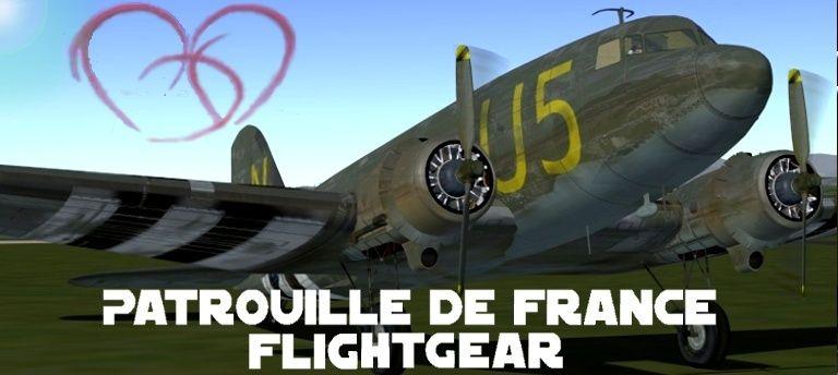 La patrouille de france Flightgear