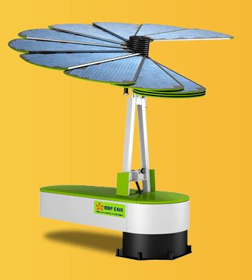 la fleur intelligente smartflower un panneau solaire d ployable qui suit le soleil. Black Bedroom Furniture Sets. Home Design Ideas