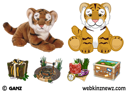 Today Ganz released both the plush and in game images of the Signature  Endagered Bengal Tiger  Its PSI will be the Wild Game Gourmet BBQ and its  PSF will be. Breaking Newz
