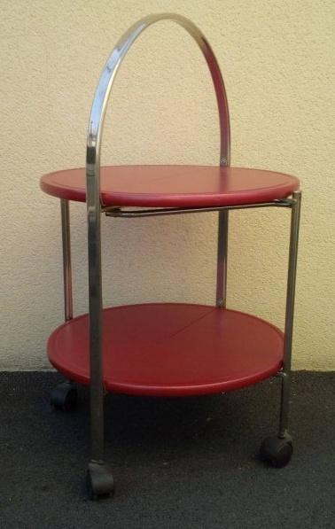 table bar pliante a roulettes allemagne 1970. Black Bedroom Furniture Sets. Home Design Ideas