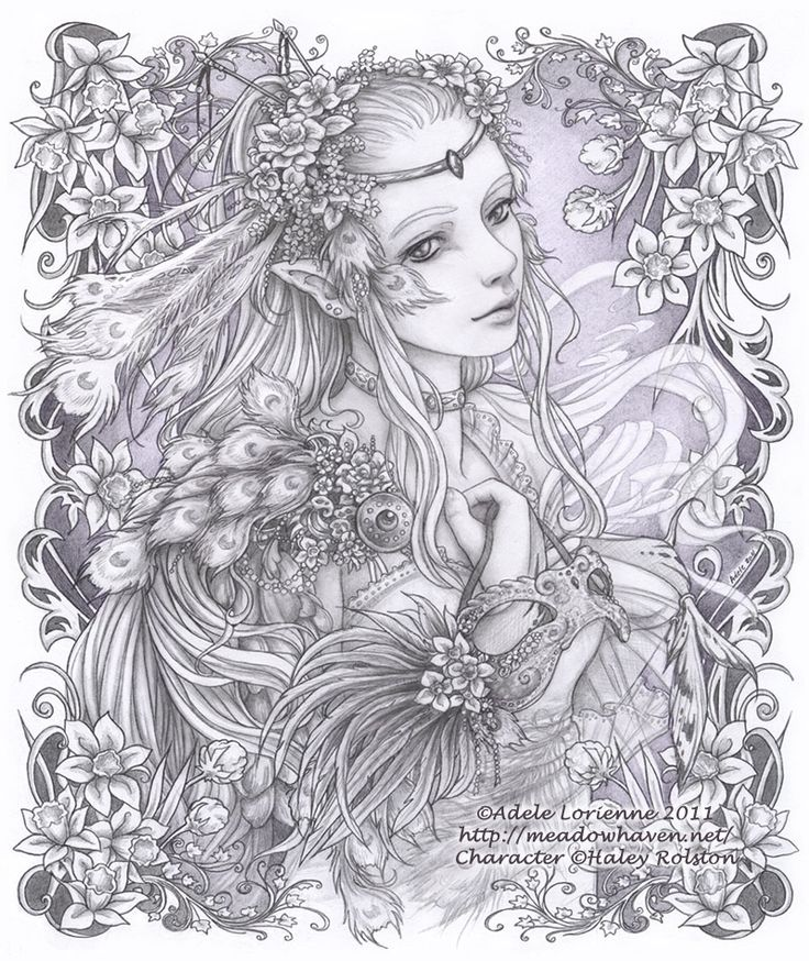 coloring pages of mystical angels - photo#38