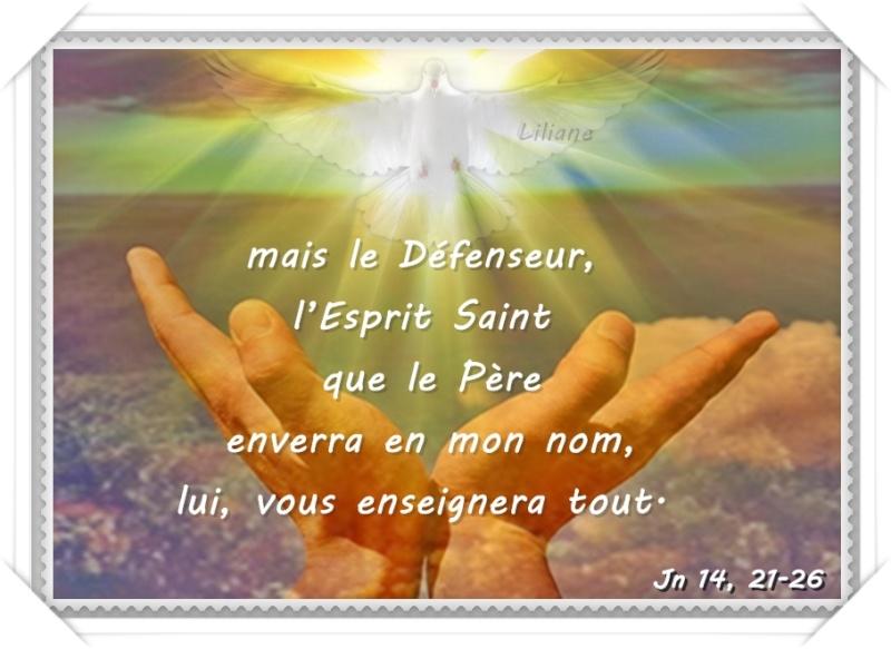 L'Esprit Saint vous enseignera tout » Jean 14, 21-26