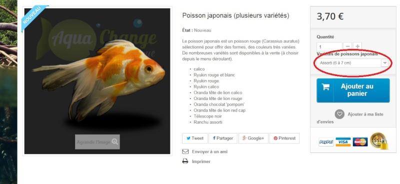 Vente en ligne de poissons d 39 aquarium boutique aquachange for Poisson aquarium vente en ligne