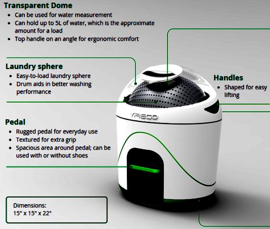 drumi la machine laver portable qui ne n cessite pas une goutte d lectricit. Black Bedroom Furniture Sets. Home Design Ideas