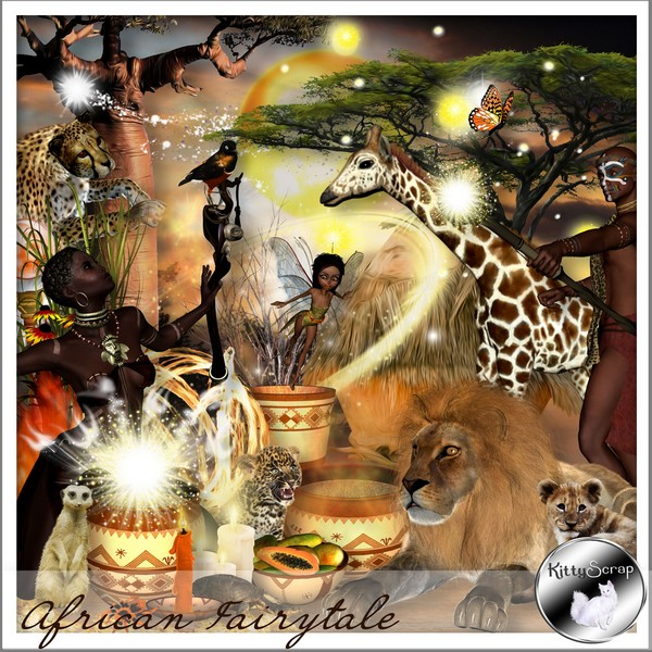 African Fairytale de Kittyscrap dans Mai kitty101