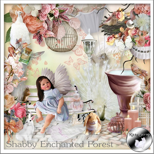 Shabby enchanted forest de Kittyscrap dans juin kitty122