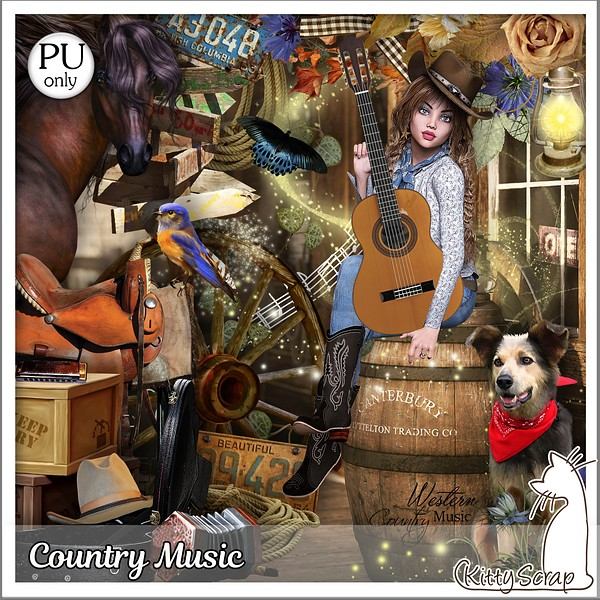 Country music de Kittyscrap dans juin kitty161