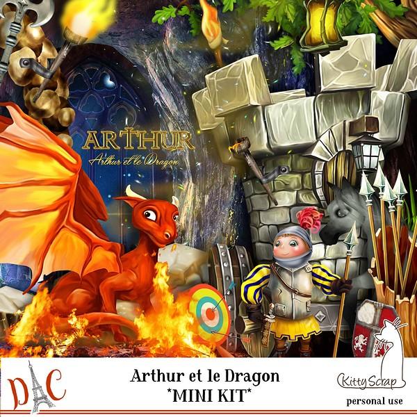ARTHUR ET LE DRAGON DE KITTYSCRAP dans Août previe91