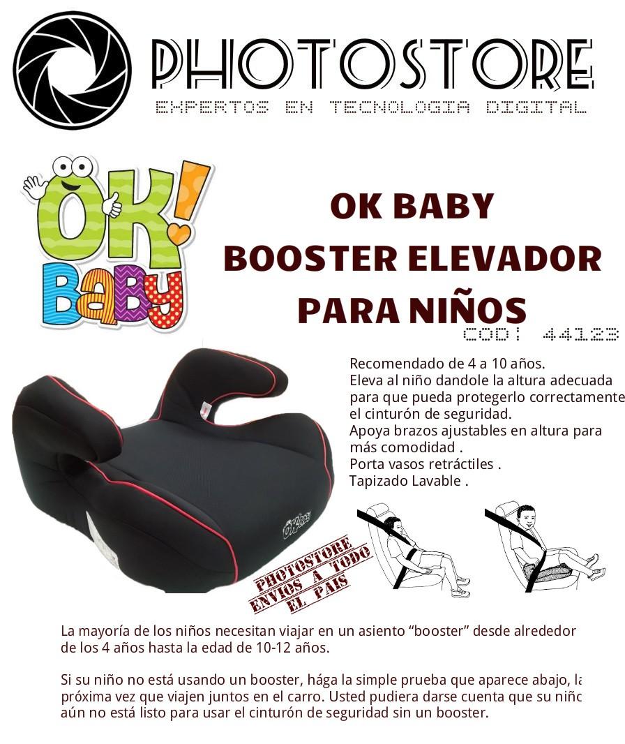 Ok baby booster elevador p ni os de 4 a 10 a os for Sillas para autos para ninos 4 anos