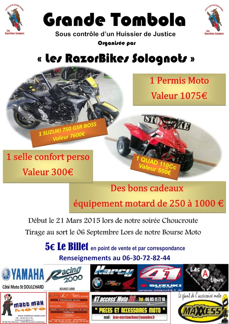 tombola moto club les razorbikes solognots. Black Bedroom Furniture Sets. Home Design Ideas