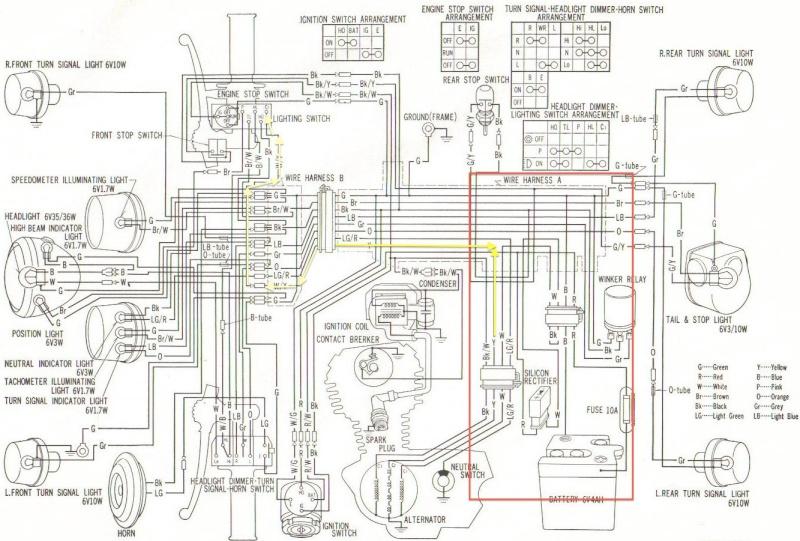 adapter commodo de sl100    xl100k0 sur faisceau xl125