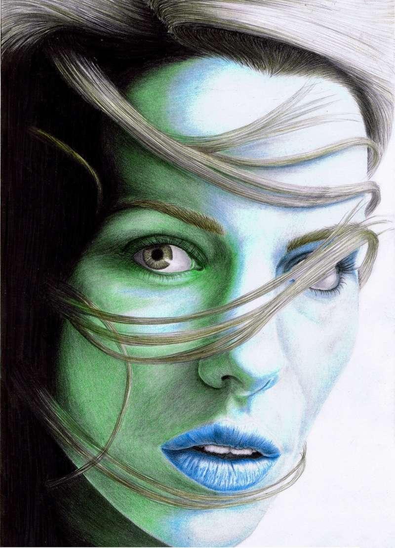 dessin portrait féminin