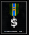 Donation Level Medal 3