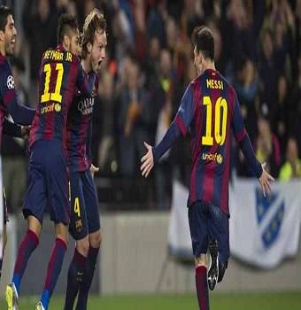 أهداف مباراة برشلونة 1 x مانشستر سيتي 0