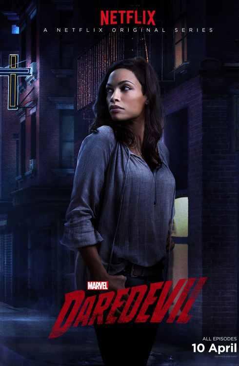 البوسترات الترويجية مسلسلتها Daredevil 2015 claire10.jpg