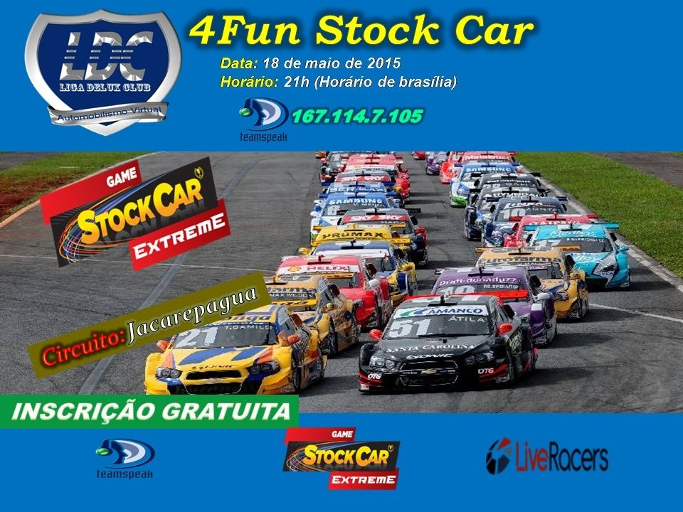 Liga delux club 4fun stock car v8 18 maio 2015 for Stock car a couture 2015