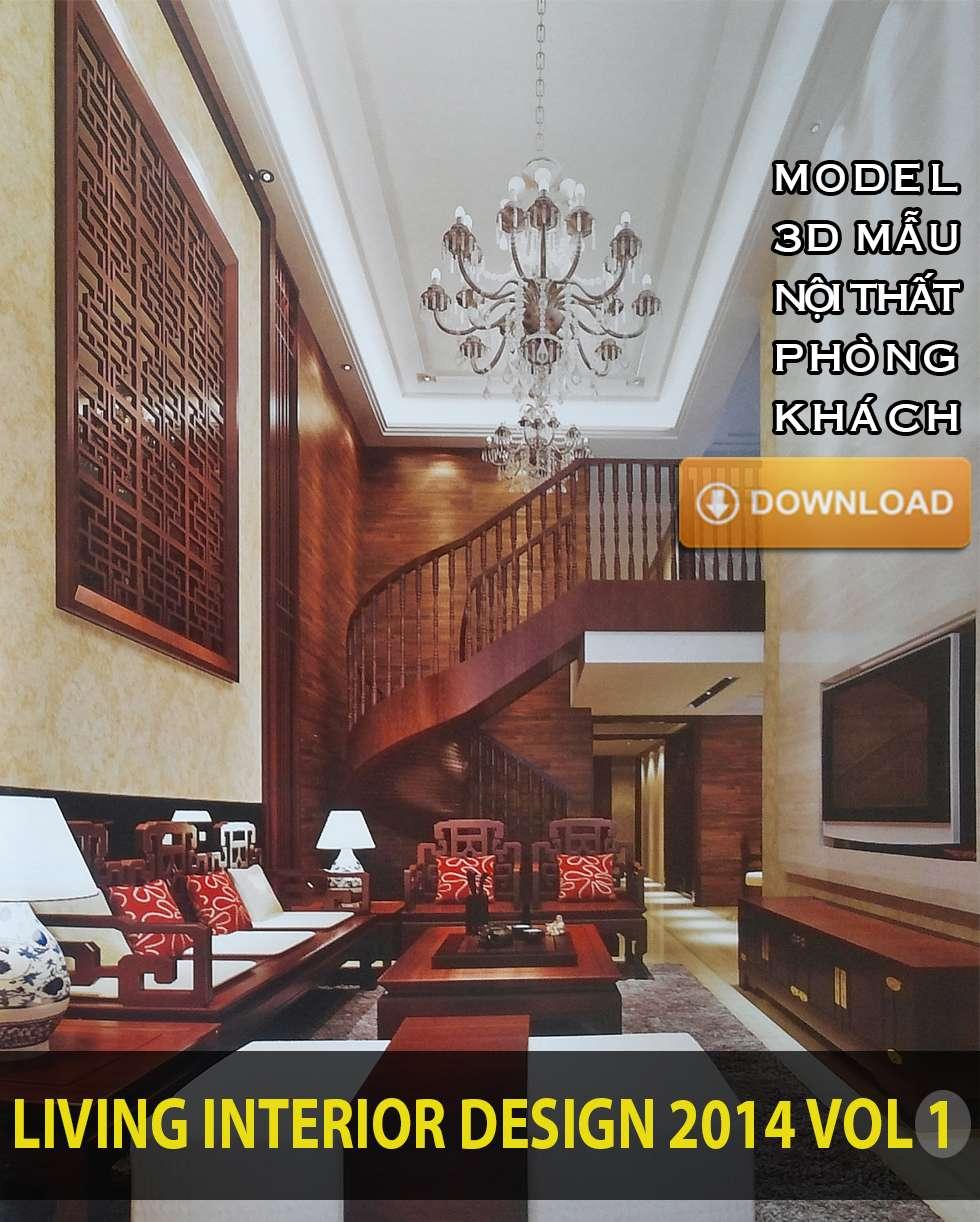 Tải model 3D nội thất phòng khách - click để tải