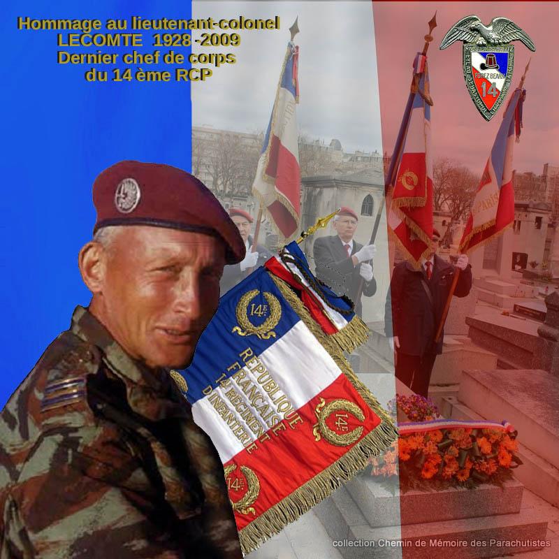 Le lieutenant-colonel Pierre Lecomte, immense figure de notre histoire para a été honoré aujourd'hui au cimetière Montparnasse