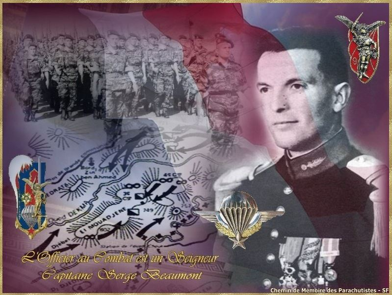 SOUK AHRAS 28 avril -3 mai 1958 - dans la bataille le 9e RCP perdait 32 hommes et le Cne Beaumont