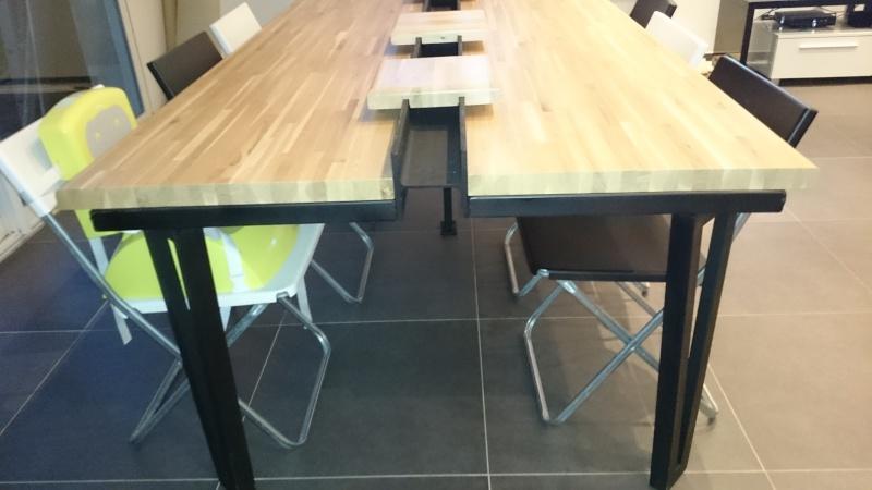 une table de salon bois m tal. Black Bedroom Furniture Sets. Home Design Ideas