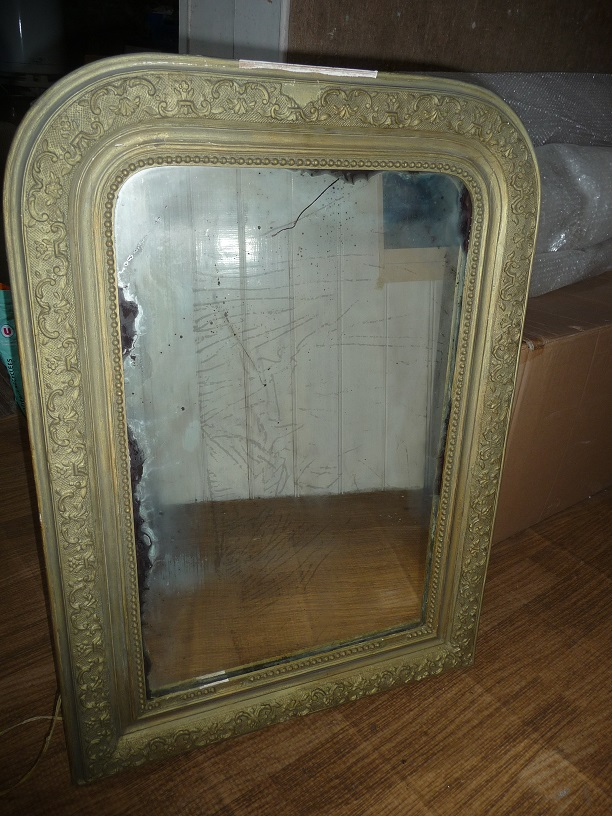 Cadre de miroir ancien for Miroir de poche ancien