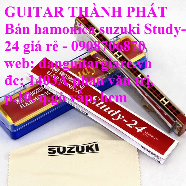 Kèn harmonica suzuki Study-24, winner 24 lỗ học sinh sinh viên giá rẻ gò vấp hcm - 11