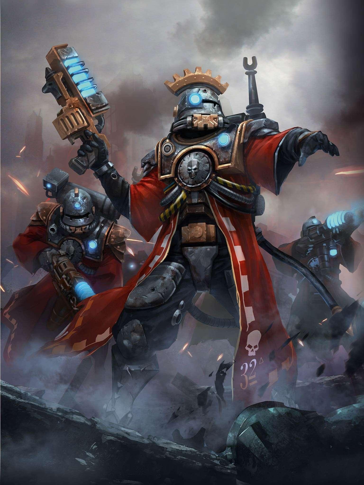 Adeptus mechanicus skitarius de rob sanders for Portent warhammer