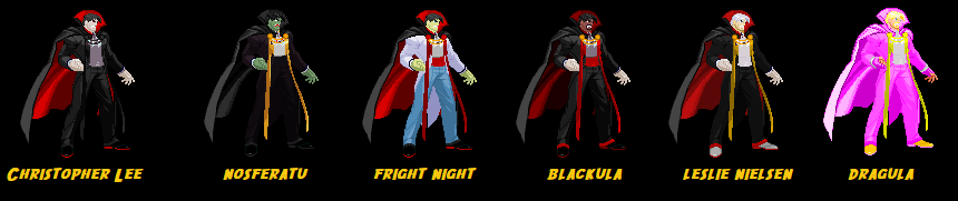 Dracula by Ghost Rider new palettes - Downloads - The MUGEN ARCHIVE
