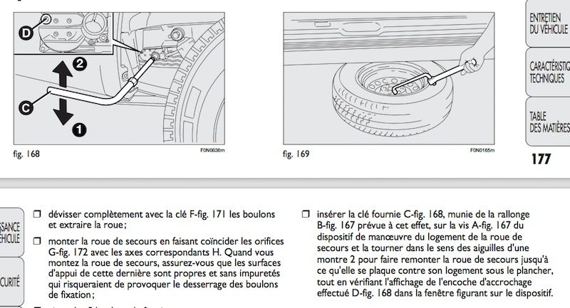 sur ducato arrimage s curit de la roue de secours page 2. Black Bedroom Furniture Sets. Home Design Ideas