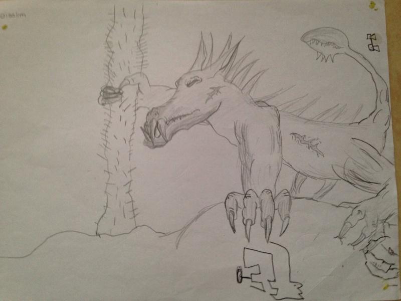 dessin monstre profil