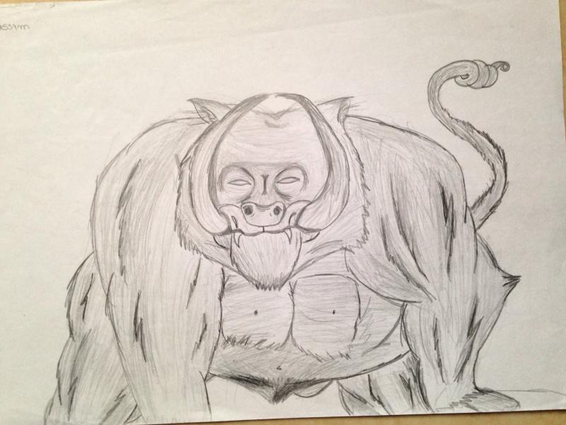 dessin monstre face