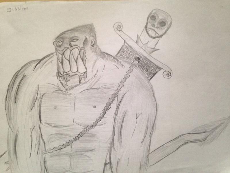 dessin monstre épée