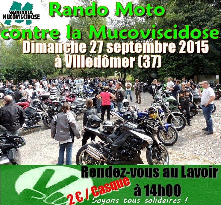 Rando Moto contre la Mucoviscidose le 27 septembre à Villdômer