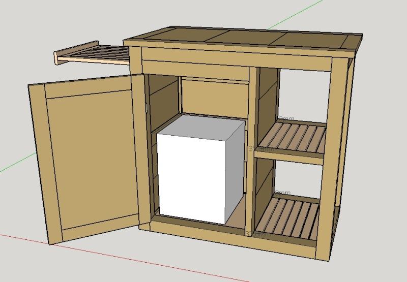 Gallery of juai lgrement modifi mon projet pour allger le - Fabriquer un chariot pour plancha ...